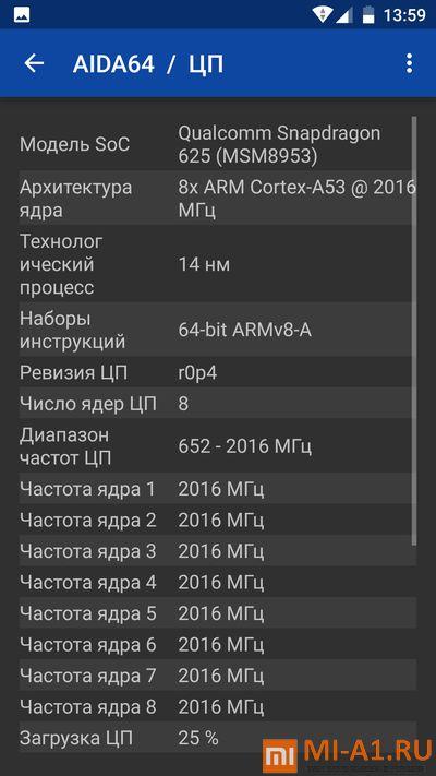 Сяоми Ми А1 процессор