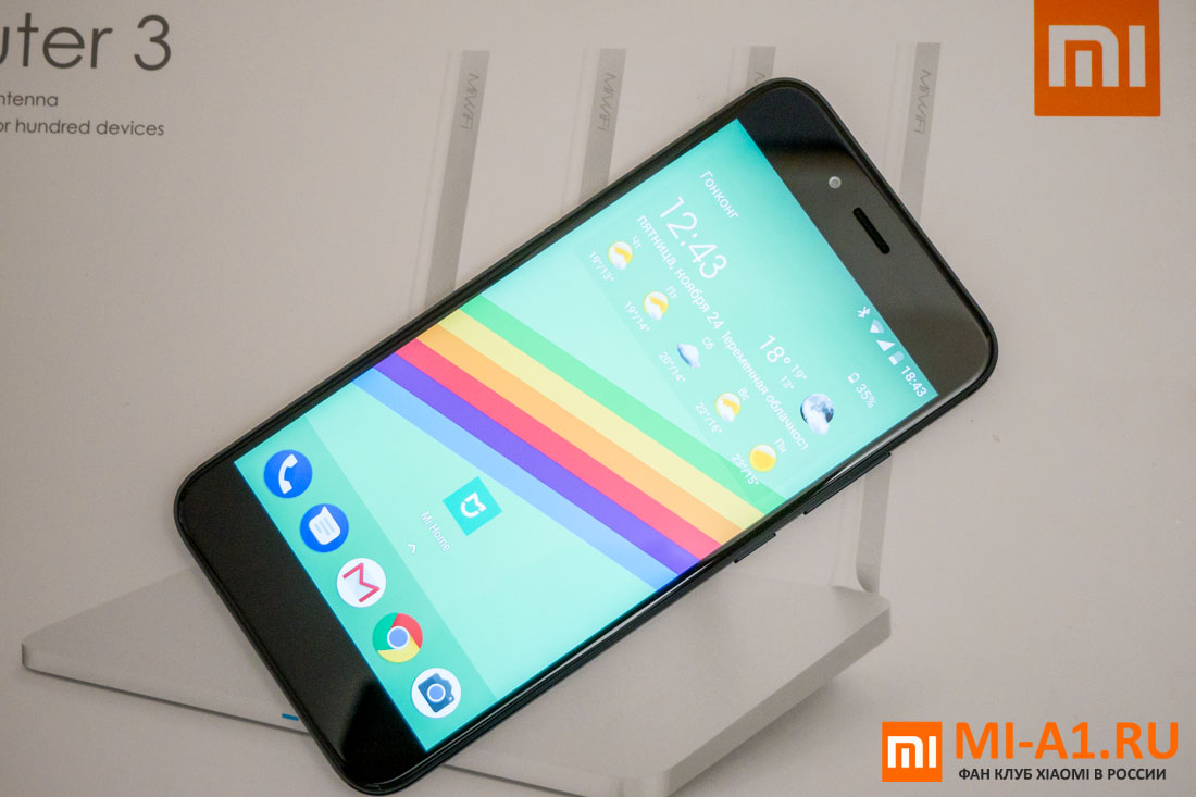 Xiaomi Mi A1 экран
