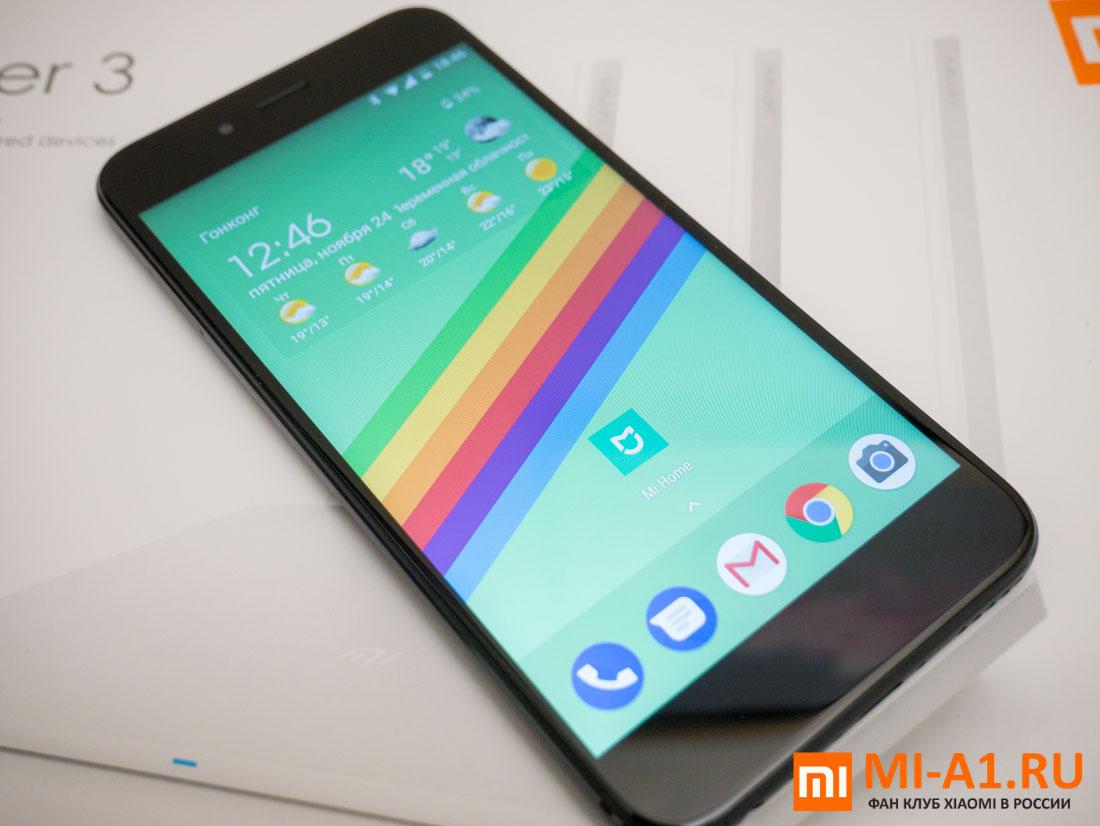 Xiaomi Mi A1 почти без рамок