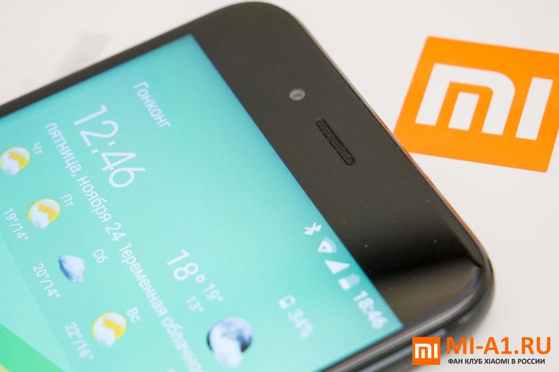 Xiaomi Mi A1 динамик и фронтальная камера