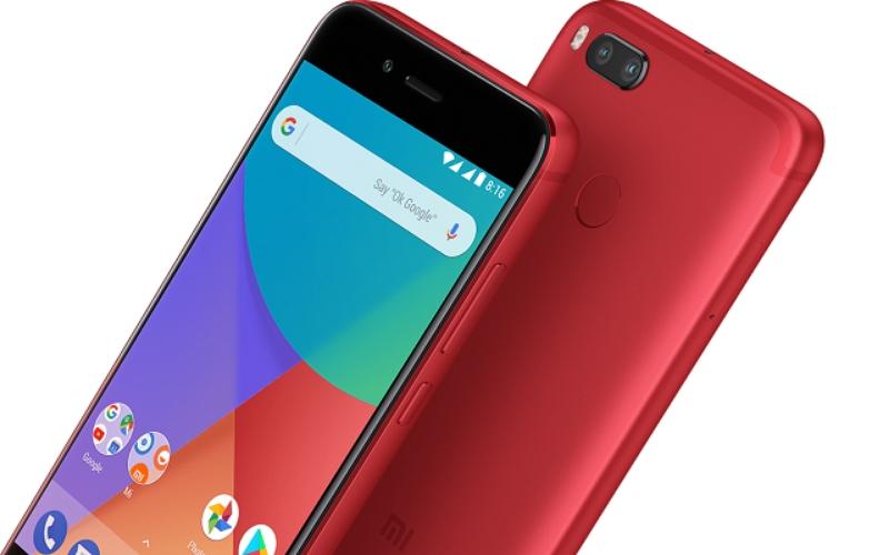 Xiaomi Mi A1 в насыщенном красном