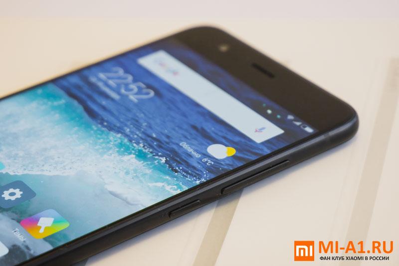 Xiaomi Mi Note 3 - регулятор громкости и кнопка питания
