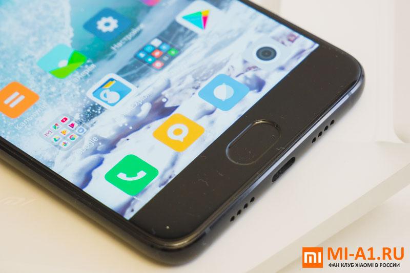 Xiaomi Mi Note 3 сканер отпечатков