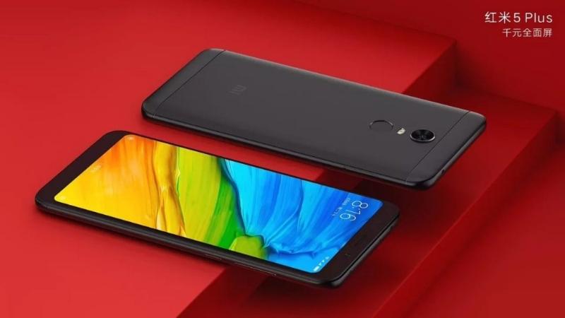 Xiaomi Redmi 5 Plus красочный экран