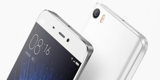 Xiaomi Mi 5 спереди и сзади