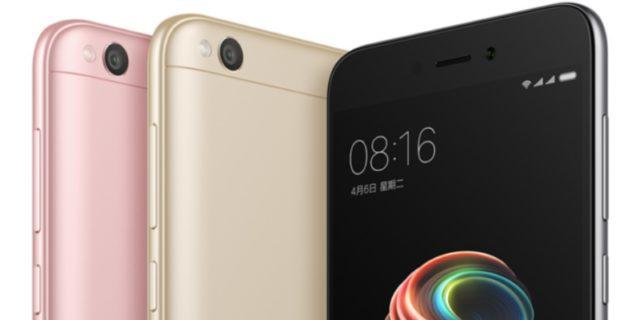 Xiaomi Redmi 5A тонкий