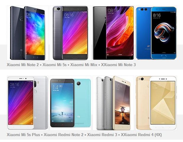 Самые актуальные смартфоны Xiaomi