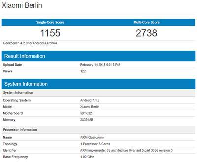 Xiaomi Berlin Geekbench