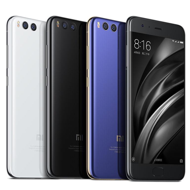 Xiaomi Mi 6 разных расцветок