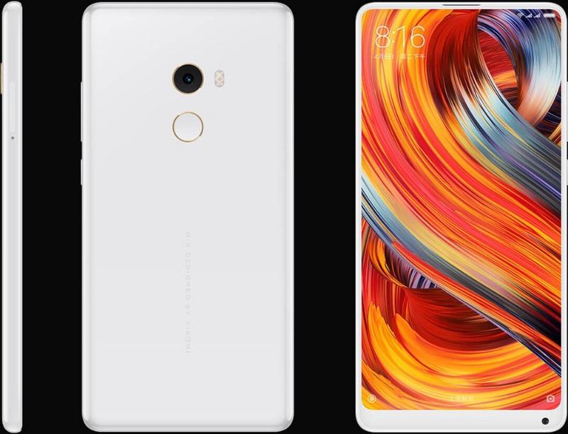 Xiaomi Mi Mix 2s белого цвета