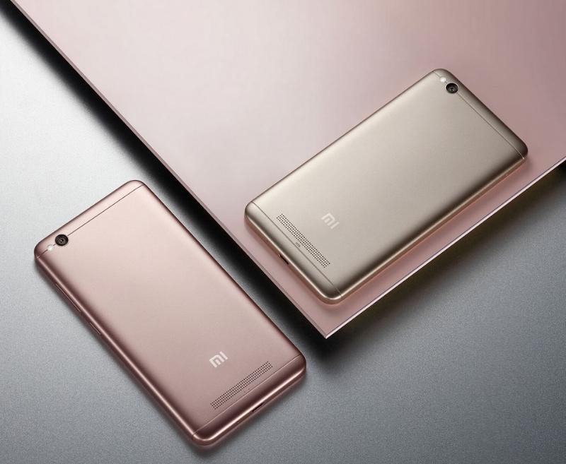 Xiaomi Redmi 4A бежевого и розового цветов