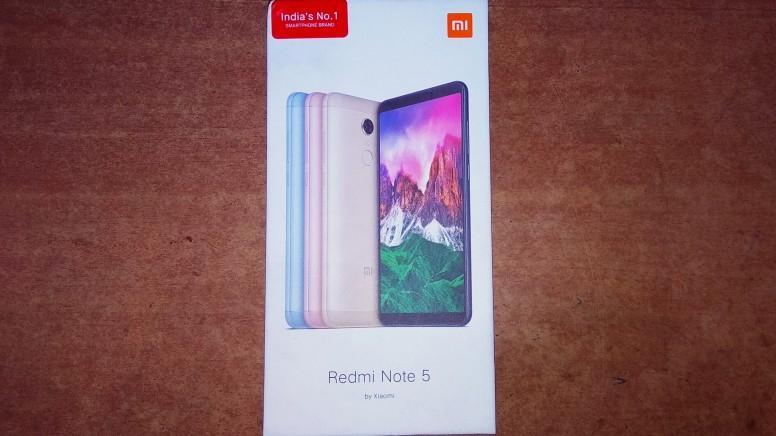 Xiaomi Redmi Note 5 коробка